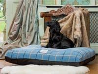 Luxury Dog Bed Mattress Cover - Orthopaedic Dog Bed - Tartan
